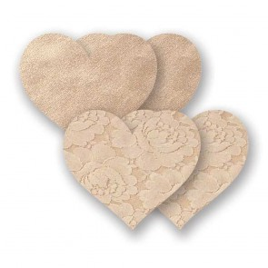 Nippies Basic Heart Nipple Covers Creme Front